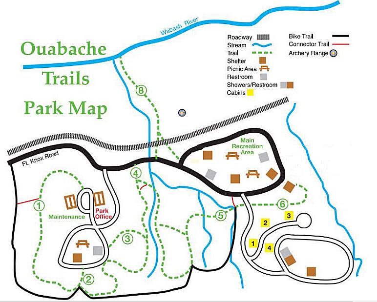 Quabache Trails Park Map